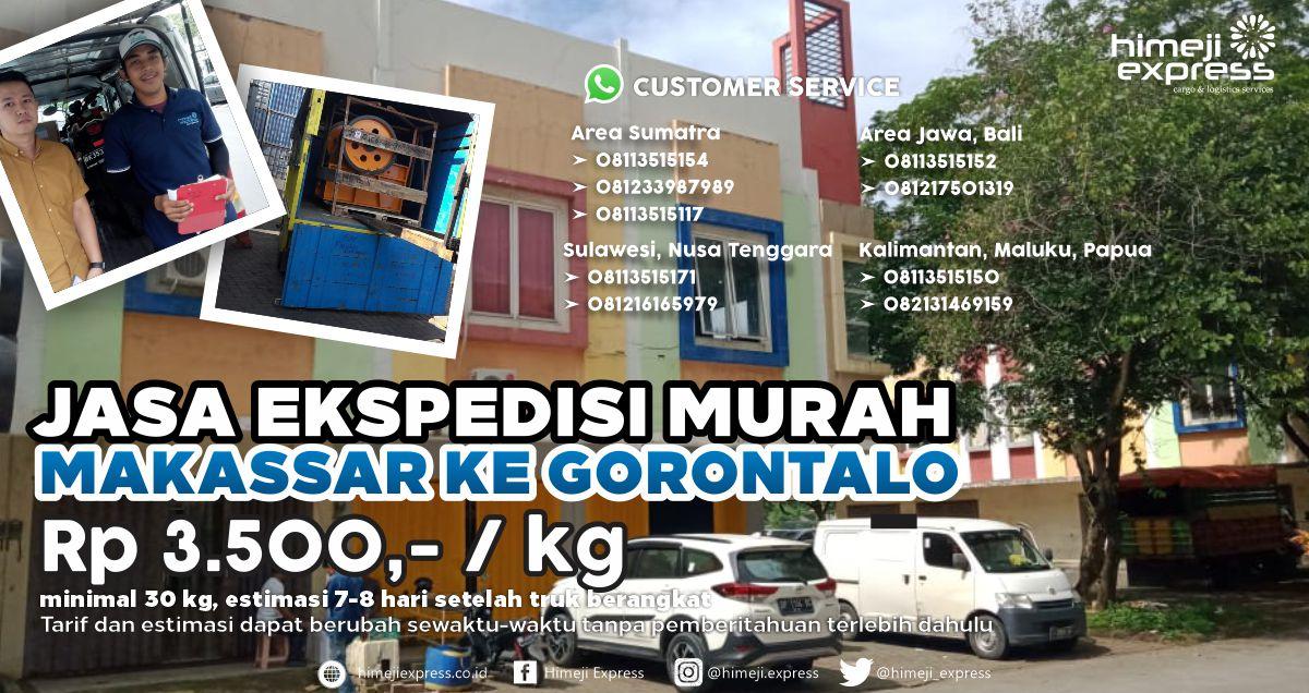 Ekspedisi Murah Makassar ke Gorontalo